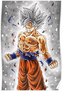 Goku Ultra Instinct Poster Dragon Ball Super Goku Anime Dragon Ball Super Dragon Ball Super Manga