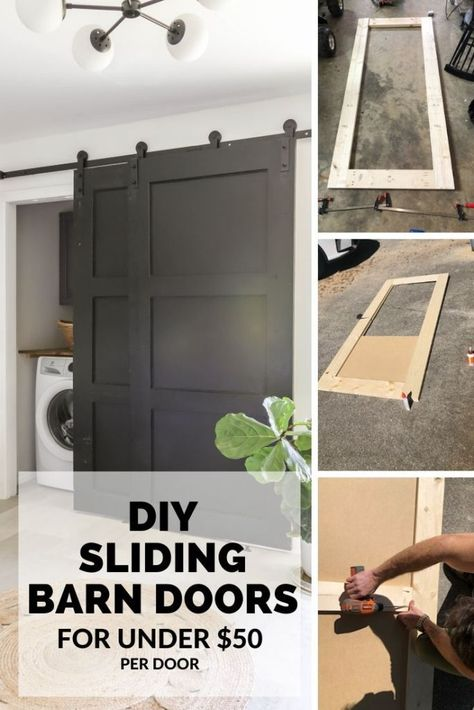Friday DIY & Finds – So much to see. I love all of your projects. Even a tiny hallway entrance can… Diy Closet Doors, Closet Door Makeover, Barn Door Closet, Barn Door On Bathroom, Replacing Closet Doors, Diy Closet Ideas, Bedroom Closet Doors Sliding, Bedroom Barn Door, Organizing Walk In Closet