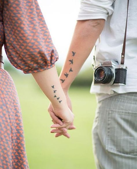 Matching tattoos make a great way for a couple to make a show of their dedication and commitment to each other, but they are not just confined to couples in a relationship, like husband and wife or lovers. - Part 7