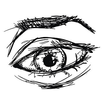 Drawing Of Eye Illustration Vector On White Background Eyes Clipart Black And White Illustration Eye Png And Vector With Transparent Background For Free Down Eye Illustration Eye Drawing Vector Sketch