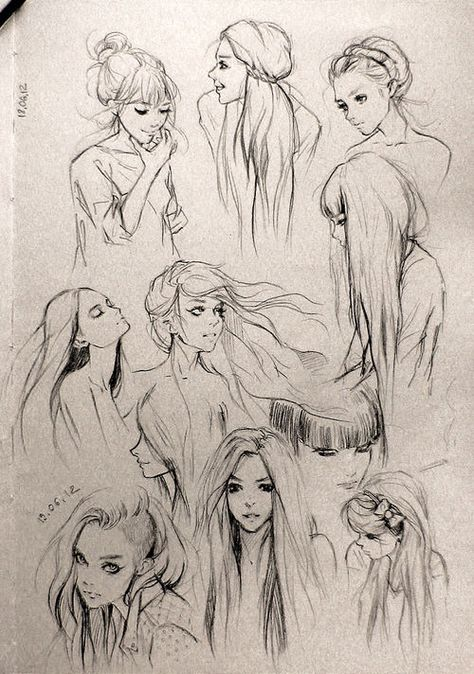 hair ✤    CHARACTER DESIGN REFERENCES   Find more at https://www.facebook.com/CharacterDesignReferences if you're looking for: #line #art #character #design #model #sheet #illustration #expressions #best #concept #animation #drawing #archive #library #reference #anatomy #traditional #draw #development #artist #pose #settei #gestures #how #to #tutorial #conceptart #modelsheet #cartoon #hair
