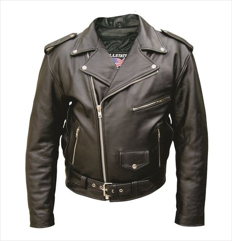 Mens TALL Buffalo Leather Motorcycle Jacket with Zip Out