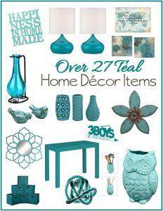 Aqua or Teal Home Decor Accent Pieces | Teal home decor ...