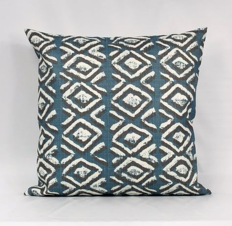 Slate Blue Outdoor Pillow Cover, Blue