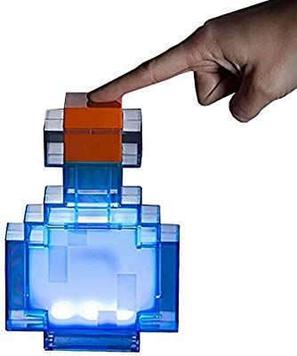 Thinkgeek Minecraft Color Changing Potion Bottle Lights Up And