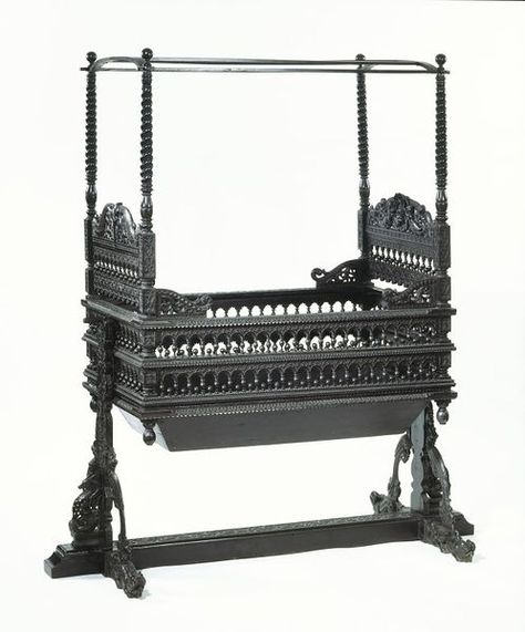 Cradle. Coromandel Coast, India. Carved and pierced ebony. © Victoria and Albert Museum, London