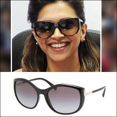 65c196fced66 Deepika  Padukone in  Cat-Eye  Sunglasses