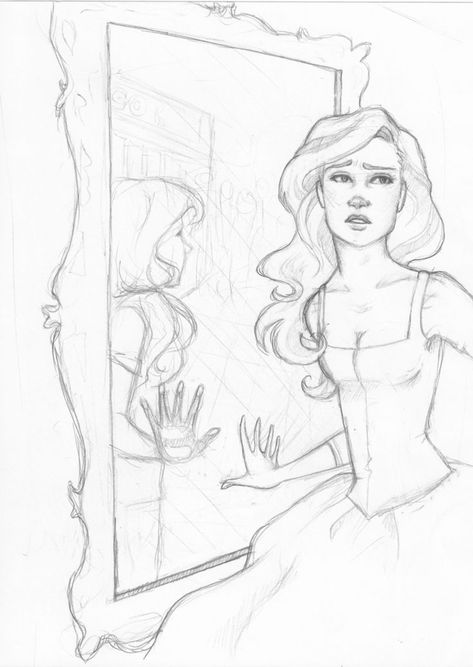 The Dreamer by hil-a-ree on deviantART Interesting how the hand in the mirror
