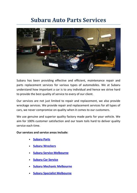 Subaru Auto Parts Services Subaru Cars Subaru Strive Harder