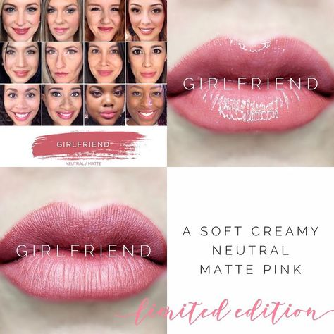 Limited Edition Girlfriend LipSense is a must have! A beautiful creamy neutral matte pink. Girlfriend LipSense selfies, girlfriend selfie. Perpetual Pucker lips