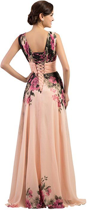 3470744739c Yafex Floor-Length Celebrity Party Floral Dresses Pink Size 10 YF7502-1:  Amazon.co.uk: Clothing
