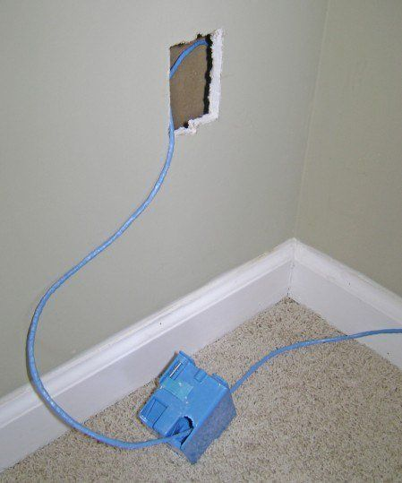 Install An Ethernet Wall Jack Old Work Outlet Box Home Network Wall Outlets Wall Jack
