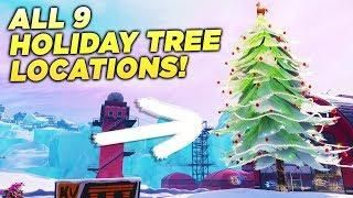 All Christmas Tree Locations Fortnite.All 9 Holiday Tree Locations Dance In Front Of Different