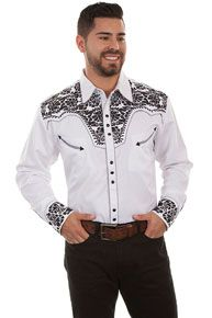 Scully Gunfighter Long Sleeve Snap Front Western Shirt