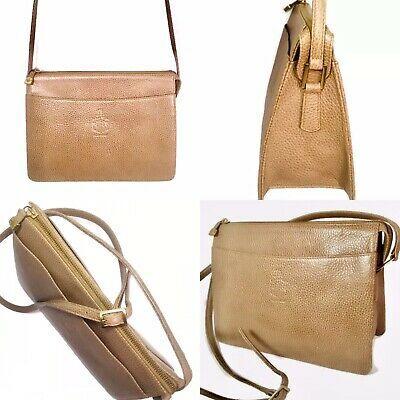 Mark Cross New York Beige Leather Crossbody Shoulder Bag Pebble Made In Turkey Ebay Crossbody Shoulder Bag Leather Crossbody Shoulder Bag