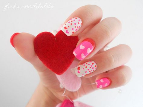 Lovely Valentine's Day nails!