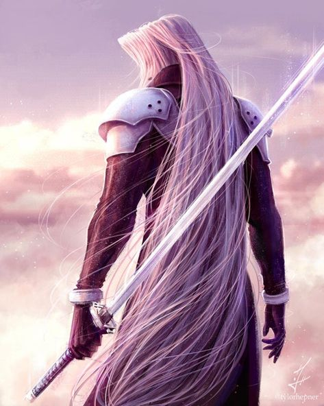 [NO SPOILERS] Sephiroth Fan Art - With the Hype with him coming to Smash, I had to do something for my favorite villain of all time!