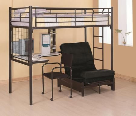 Bunks Collection 2209set 2 Pc Bedroom Set With Twin Size Loft Bunk