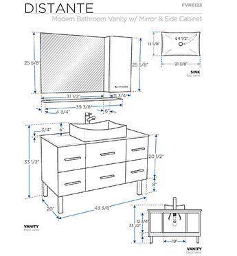 16++ Bathroom vanity cabinet dimensions inspiration
