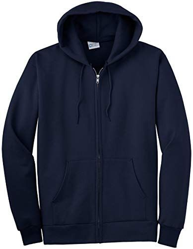 Port /& Company Mens Hooded Fleece Sweatshirt,XX-Large,Navy