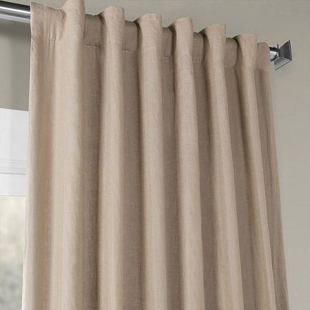 Exclusive Fabrics Furnishing French Linen Curtain Panel Panel Curtains Curtains Lined Curtains