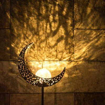Crescent Moon Solar Light Solar Lights Garden Outdoor Solar Lights Solar Powered Garden Lights