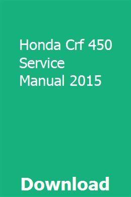 crf 450 repair manual pdf