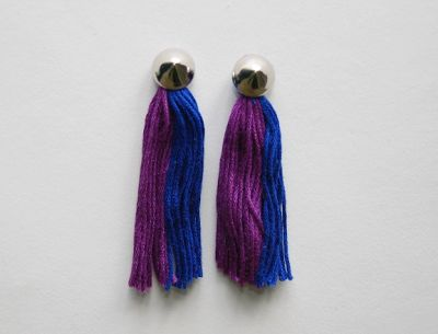 DIY: Embroidery Thread Tassel Earrings - Wild Amor