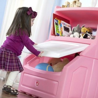 Step2 Lift And Hide Bookcase Storage Chest Pink In 2020 Kids Storage Kids Bookcase Storage Bookcase Storage