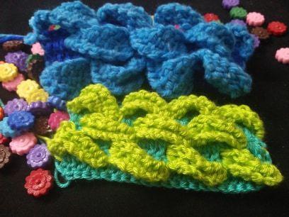 غرزة ورق الشجر بالكروشية التونسي مع طريقة تغير الالوان بالتفصيل الممل كروشية كروشيه كروشي كروشيه تونسي كروشية تونسى غ Crochet Necklace Crochet Jewelry