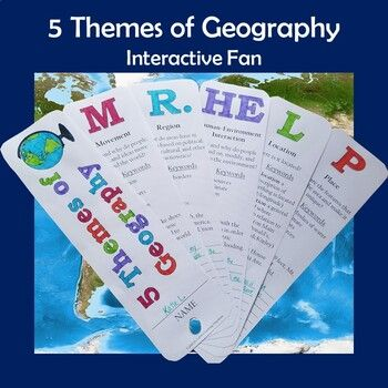5 Themes Of Geography Mr Help Interactive Fan Graphic Organizer Five Themes Of Geography Social Studies Notebook Elementary Social Studies Lessons