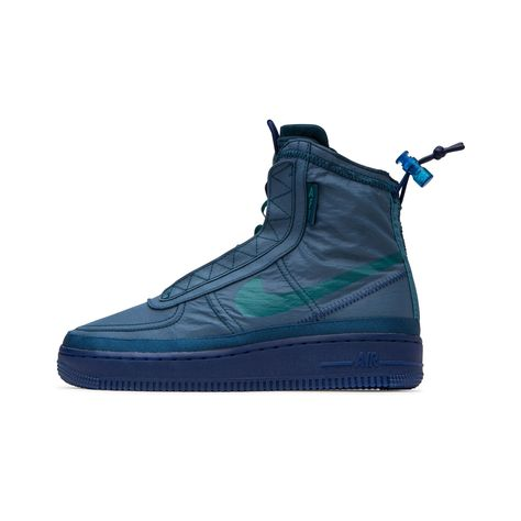 2020 Nike Air Force 1 Shell Midnight Turq Geode Teal BQ6096