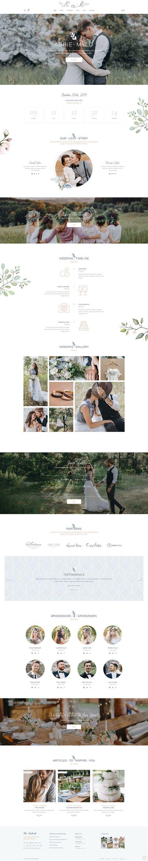 Create an elegant wedding website for your most important day with The Aisle WordPress theme!   #wordpress #webdesign #websitedesign #designinspiration #wedding #celebration #weddingplanner #weddingwebsite #weddinginspiration #weddingbusiness #weddingday #weddingphoto #feminine #elegant