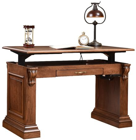 Up To 33 Off Bradford Standing Writing Desk Amish Outlet Store Writing Desk Luxury Desk Standing Desk Design