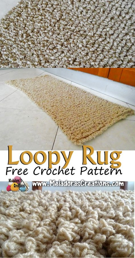 Loopy Rug– Free Crochet pattern and Tutorial - Meladora's Creations