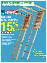 Century Attic Ladders From Menards 15 Off Menards Attic Ladder Attic