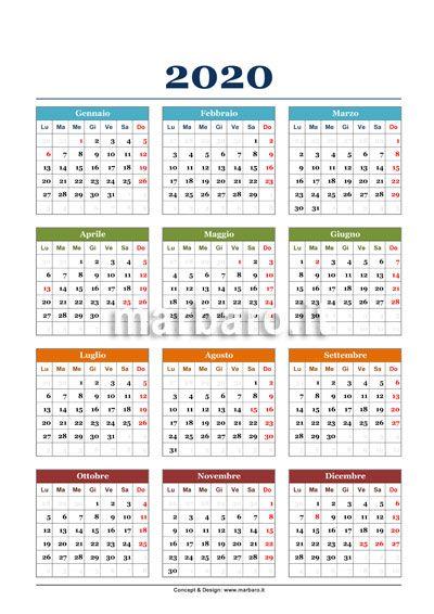 Calendario 2020 Ticino.Calendario 2020 Calendario Modelli Di Calendario