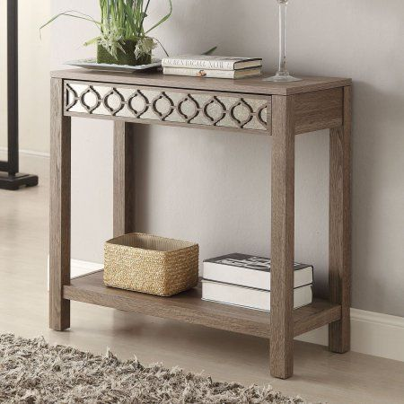 Helena Rectangle Console Table Walmart Com Oak Console Table Oak Consoles Foyer Table