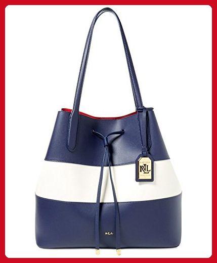 bea61a6eb9 LAUREN Ralph Lauren Women s Dryden Diana Tote Marine Vanilla Red Handbag -  Totes ( Amazon Partner-Link)