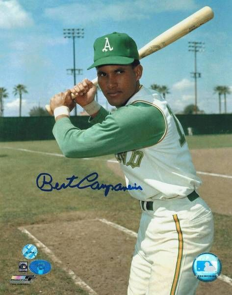Bert Campaneris Oakland Athletics Autographed 8x10 Photo -Posing At Bat-