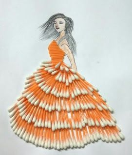 تصميم أزياء من خامات جديدة Imagination Of Artist Fashion Illustration Collage Dress Design Drawing Fashion Drawing Dresses