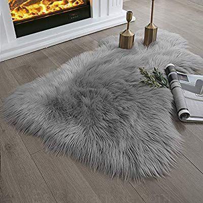 Amazon Com Ashler Ultra Soft Fluffy Area Rug Faux Fur Sheepskin