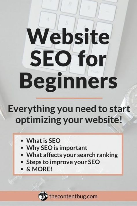Website SEO for Beginners: Everything you need to start optimizing your website