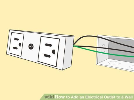 Add An Electrical Outlet To A Wall Electrical Outlets Wall Ads