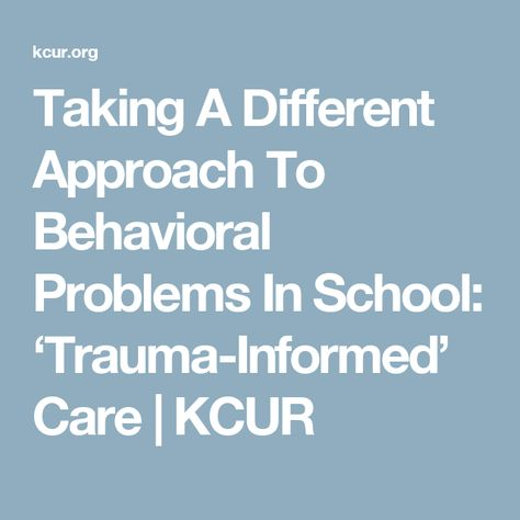 Taking Different Approach To Behavioral >> Taking A Different Approach To Behavioral Problems In School
