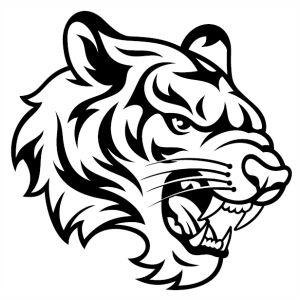 Pin By Satria Lafadz On Cricut In 2020 Tiger Artwork Tiger Sketch Tiger Art