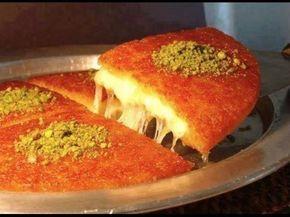Konafa Cheese اسهل طريقة تحضير كنافة نابلسية بالجبنة السائحة Youtube Recipes Food Palestine Food