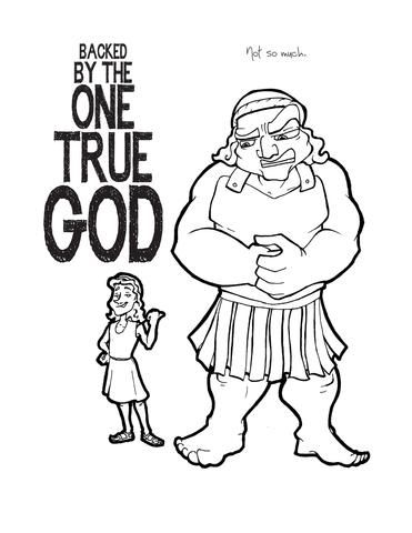David And Goliath Coloring Page David And Goliath Goliath Bible Coloring Pages