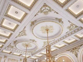 صور ديكورات جبس عربي مزخرف غاية الروعه والجمال شركة ارابيسك Luxury Ceiling Design Ceiling Design Plaster Ceiling Design