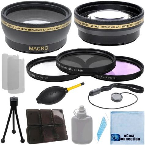 18-135mm f//3.5-5.6 EF-S is STM Lens and More Models eCost Microfiber Cleaning Cloth Pro Series 67mm 0.43x Wide Angle High Definition Lens for Canon EF 100mm f//2.8L Macro is USM Lens